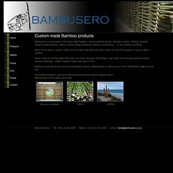 NZ Bamboo Fences | New Zealand Bamboo Furniture, Lighting & Interiors | Bambusero