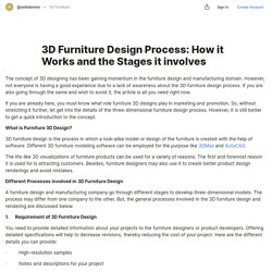 3D Furniture Design Process: How it Works and the Stages it involves — Teletype