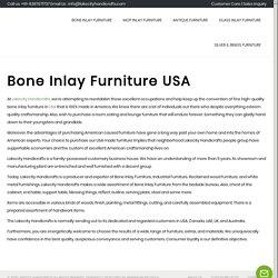 Bone Inlay Furniture USA - Lakecity Handicrafts Bone Inlay