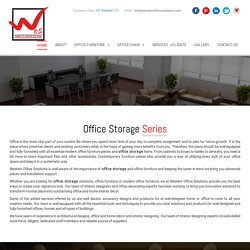 Office Storage Furniture Manufacturer