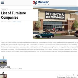 List of Top Furniture Manufacturers