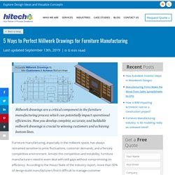 5 Ways to Perfect Millwork Drawings for Furniture Manufacturing
