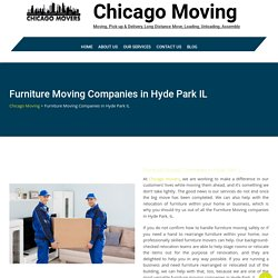 Furniture Moving Companies in Hyde Park IL