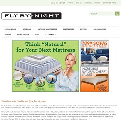Fly By Night -- Furniture, Futons, Lamps, Solid Cherry, Natural Mattresses