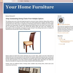 Your Home Furniture: Shop Outstanding Dining Chairs From Multiple Options