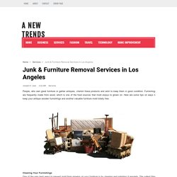 Junk & Furniture Removal Services in Los Angeles