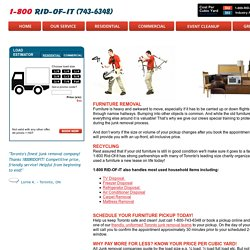Furniture Removal Services in Toronto