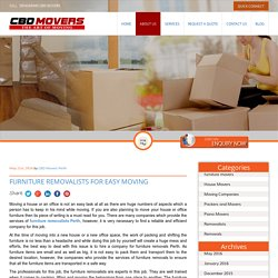 Furniture Removalists for Easy Moving
