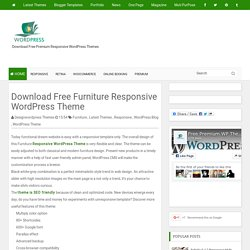 Download Free Furniture Responsive WordPress Theme - Download Free Premium Responsive WordPress Themes