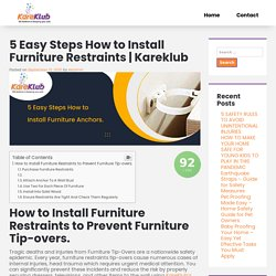 Furniture Restraints 5 Easy Steps How to Install