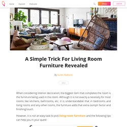 A Simple Trick For Living Room Furniture Revealed - Suren Rathore