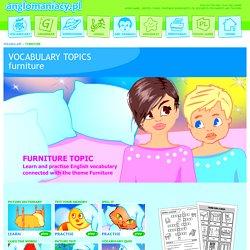 Furniture Topic for ESL Kids