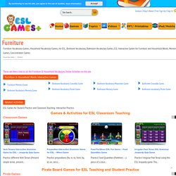 Furniture Vocabulary Games, Household Vocabulary Games, for ESL