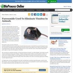 Furosemide Used To Eliminate Tinnitus In Animals