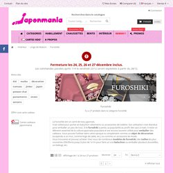 Ou trouver des furoshiki tissu japonais - Japonmania