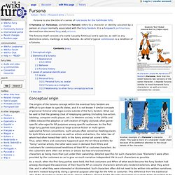 Fursona - WikiFur, the furry encyclopedia