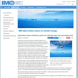 IMO takes further action on climate change