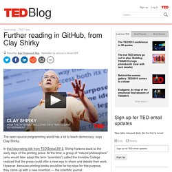 Further reading in GitHub, from Clay Shirky