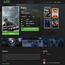 Fury (2014) Download YIFY movie torrent - YTS