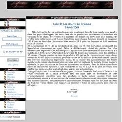 Fusa: Nike Et Les Droits De l'Homme - Articles