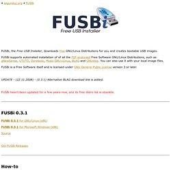 FUSBi - Free USB Installer
