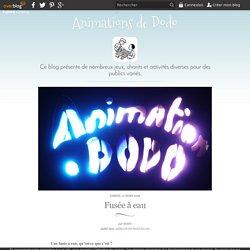 Fusée à eau - Animations de Dodo