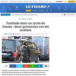 Fusillade dans un lycée de Grasse : deux personnes ont été arrêtées
