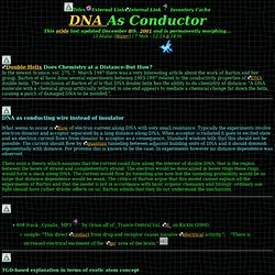 DNA As Conductor