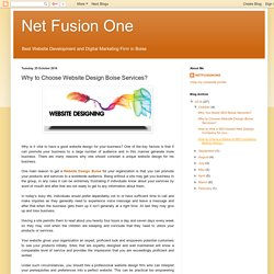 Net Fusion One: Why to Choose Website Design Boise Services?