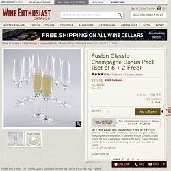 Fusion Classic Champagne Bonus Pack (Set of 6 + 2 Free)
