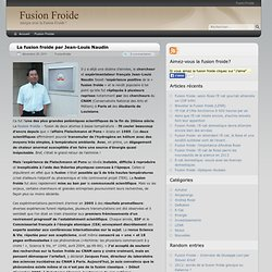 SITES FUSION FROIDE - Jean-Louis Naudin