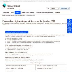 Fusion des régimes Agirc et Arrco au 1er janvier 2019