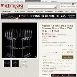 Fusion Air Universal Wine Glasses Bonus Pack (Set of 6 + 2 Free)