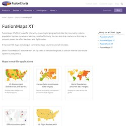 Data-driven interactive maps to display geographic trends