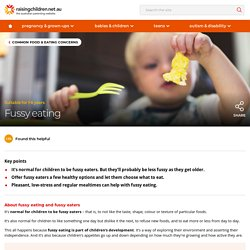 Fussy eaters in the family? Tips to help