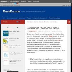 Le futur de l'économie russe – RussEurope