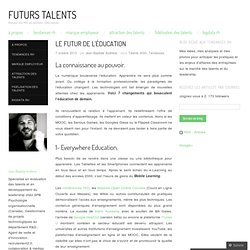 Le futur de l'éducation