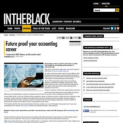 Future proof your accounting career - INTHEBLACK