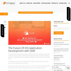 The Future Of iOS Application Development with Swift -