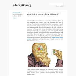 What is the future of the IB Board?