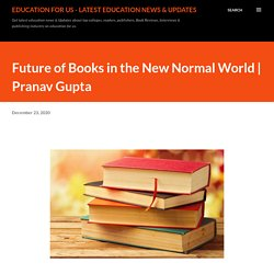Future of Books in the New Normal World