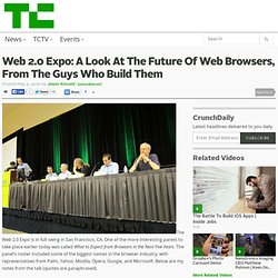 Web 2.0 Expo: A Look At The Future Of Web Browsers, From The Guy
