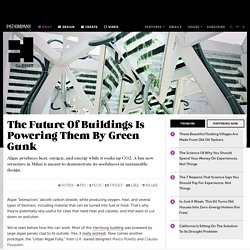 The Future Of Buildings Is Powering Them By Green Gunk