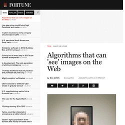 Shape the Future: Computer algorithms that can 'see' images on the Web