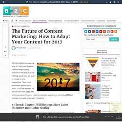 The Future of Content Marketing: How to Adapt Your Content for 2017
