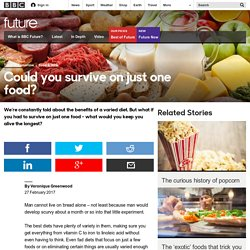 Future - Could you survive on just one food?