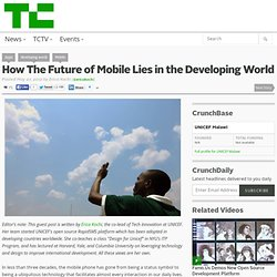 How The Future of Mobile Lies in the Developing World