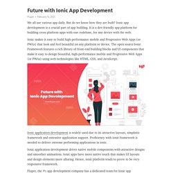 Future with Ionic App Development – Telegraph