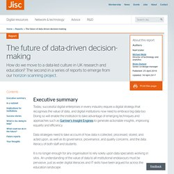 The future of data-driven decision-making