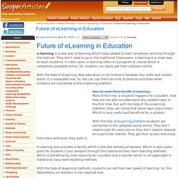 Future of eLearning in Education - Online Education